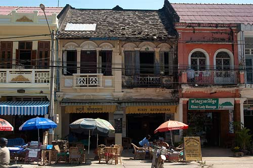 colonial buildings, Kampot, Cambodia