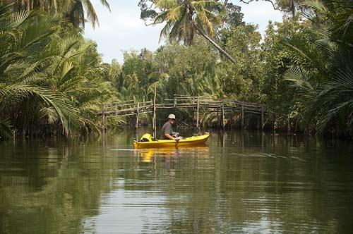 kayaking near Kampot, Cambodia