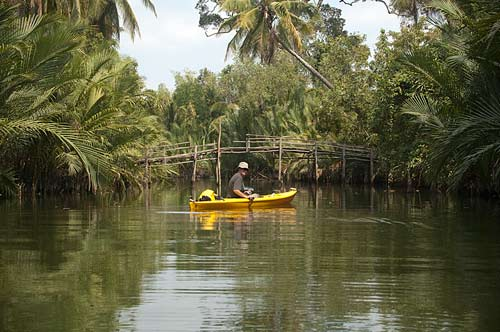 kayaking near Kampot, Cambodia