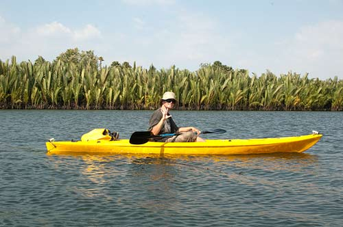 kayaking on Kampot River