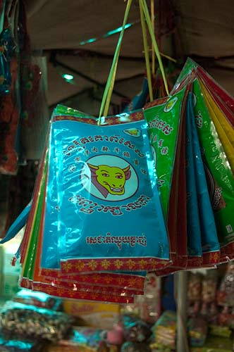 products in market, Kampot, Cambodia