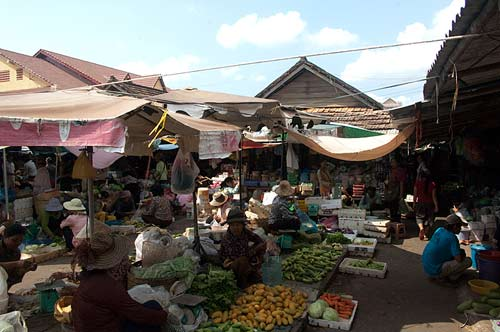 produce in market, Kampot, Cambodia