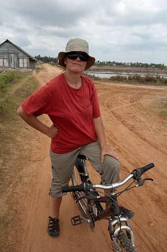 bicycling near Kampot, Cambodia