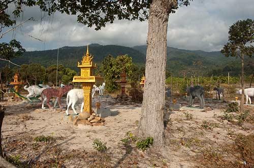 concrete animal corral, Kampot, Cambodia