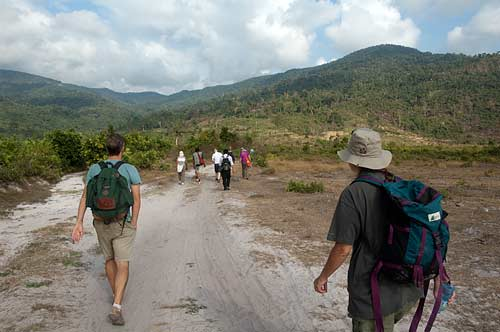 trekking to Bokor Hill Station, Cambodia