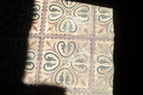 hotel floor tiles, Bokor Hill Station, Cambodia
