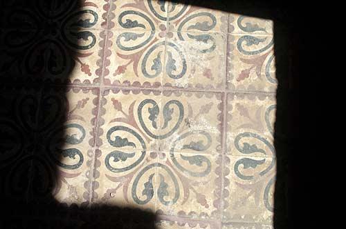 hotel floor tiles, Bokor Hill Station, Cambodia