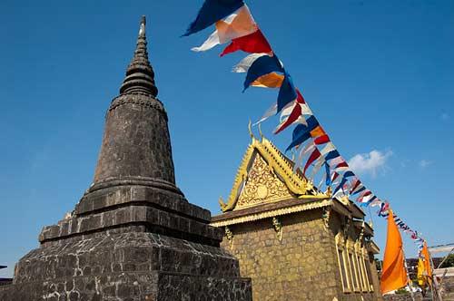 pagoda, Bokor Hill Station, Cambodia
