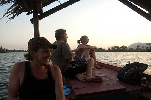 boating on Kampot River, Cambodia