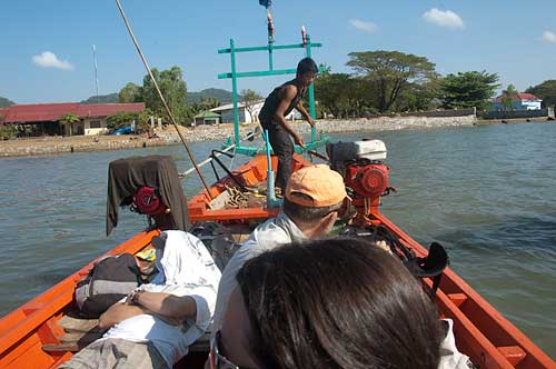 boat to Rabbit Island, Cambodia