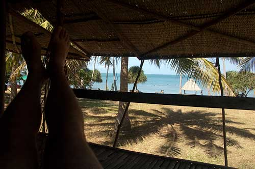 bungalow view, Rabbit Island, Cambodia