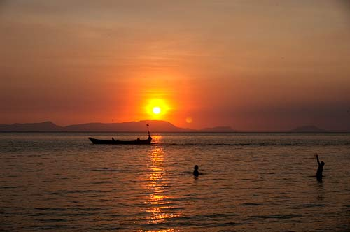 sunset from Rabbit Island, Cambodia
