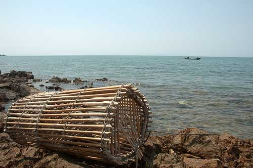 fishing trap, Rabbit Island, Cambodia