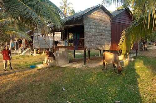 bungalow, Rabbit Island, Cambodia