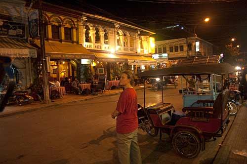 night scene, Siam Reap, Cambodia