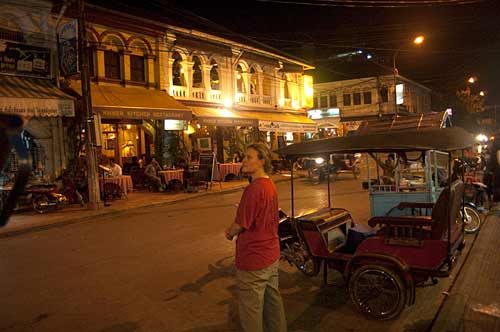 night scene, Siam Reap, Cambodia