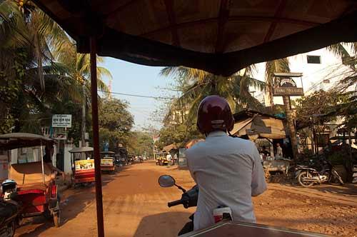 tuk tuk ride in Siam Reap, Cambodia