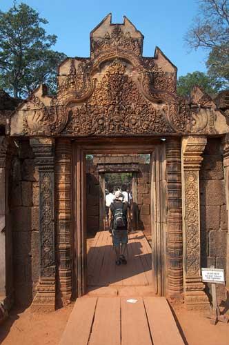 entrance at Banteay Srei, Angkor, Cambodia