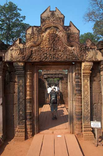 entrance at Banteay Srei, Angkor, Cambodia