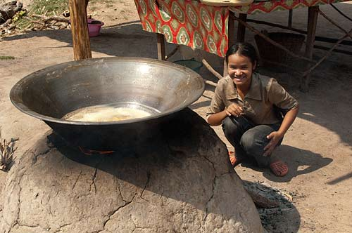 making sugar, Angkor, Cambodia