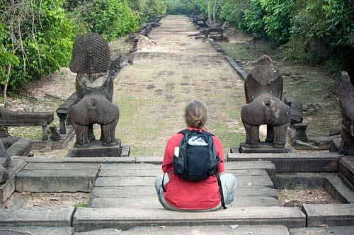 guardian lions, Banteay Samre, Angkor, Cambodia