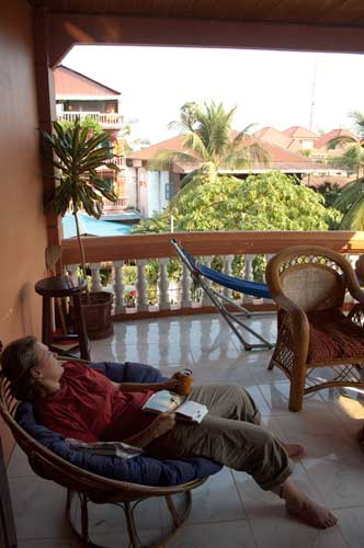 Good Kind Guesthouse balcony, Siam Reap, Cambodia