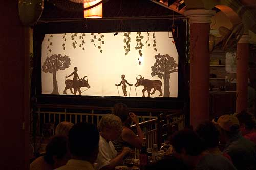 shadow puppet play, Siam Reap, Cambodia