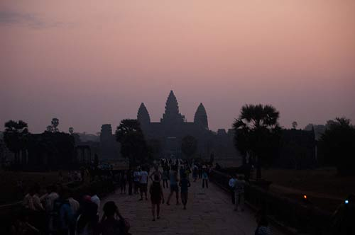 Angkor Wat at dawn, Angkor, Cambodia