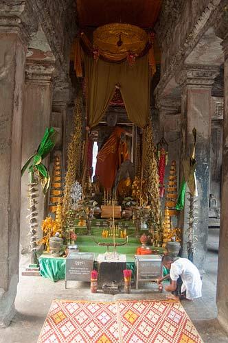 Buddhist altar, Angkor Wat, Cambodia