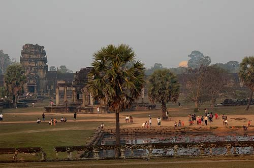 looking west at dawn, Angkor Wat, Cambodia