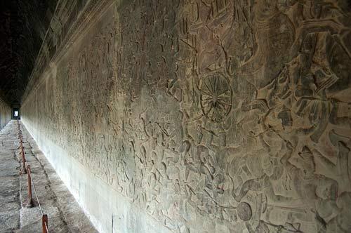 bas reliefs, Angkor Wat, Cambodia
