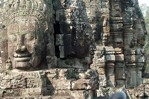 Bayon faces, Angkor Thom, Cambodia
