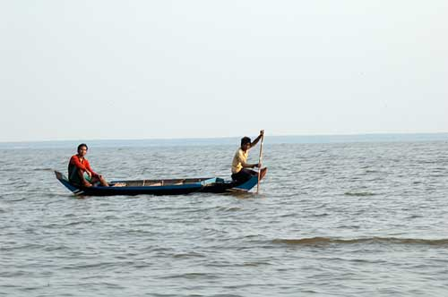 small boat on Tonle Sap, Cambodia