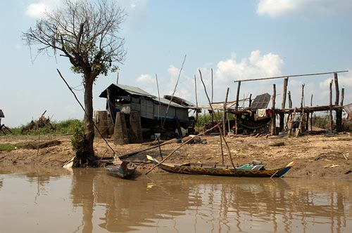 riverbank home, Sangker River, Cambodia