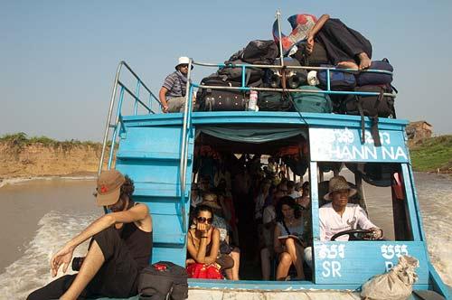 passenger boat, Sangker River, Cambodia