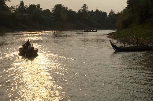 approaching Battenbang, Sangker River, Cambodia