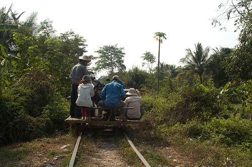 bamboo railway, Battambang, Cambodia