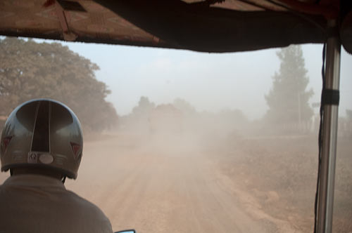 dusty road to Battambang, Cambodia