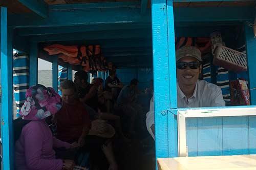 boatload, Mekong River, Cambodia
