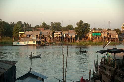 waterfront, Chau Doc, Vietnam