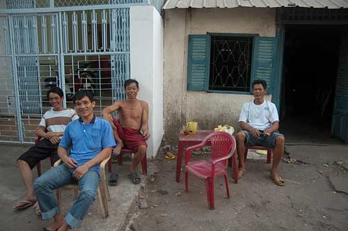 new friends, Chau Doc, Vietnam