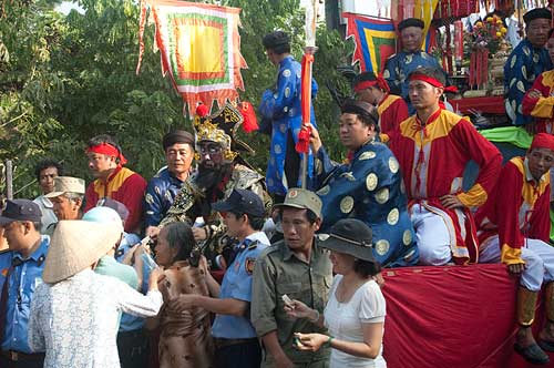 procession, Sam Mountain, Chau Doc, Vietnam