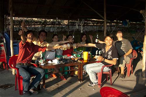 cheers! from Sam Mountain, Chau Doc, Vietnam