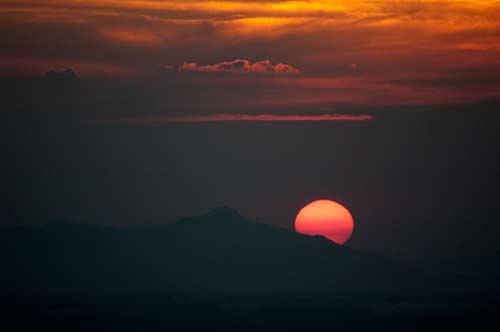 sunset, Sam Mountain, Chau Doc, Vietnam