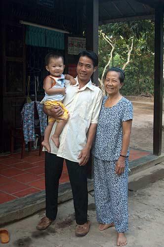 homestay family, An Binh Island, Vietnam