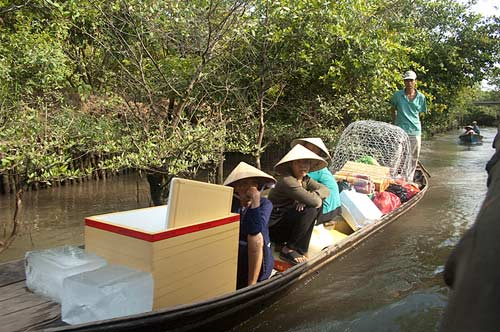 boat, An Binh Island, Vietnam