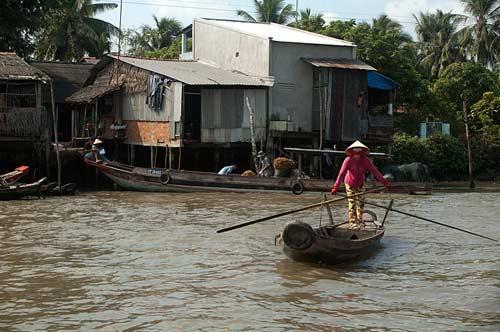small boat, Cai Be, Vietnam