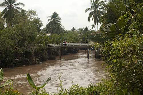 bridge over canal, Ben Tre, Vietnam