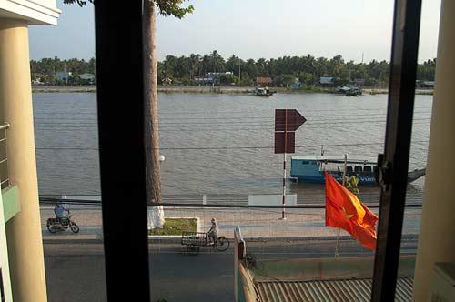 view of Ben Tre River, Vietnam
