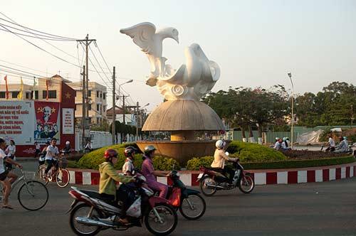 peace sculpture, Ben Tre,Vietnam